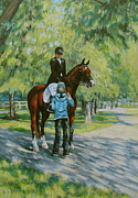Light Horse Painting Originals - Final Tips by Anda Kett