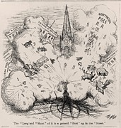 Depressions Posters - Financial Panic Of 1873. Thomas Nast Poster by Everett