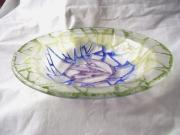 Food And Beverage Glass Art Originals - Find My Lotus Bowl by Michele Palenik