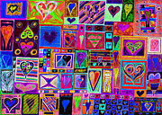R Drawings Prints - Find Ur Love Found 2 Print by Kenneth James
