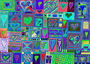 Bubbly Prints - find Ur Love found    v13 Print by Kenneth James