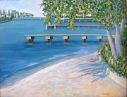 Florida Bridges Prints - Finding Flagler Print by Karen Zuk Rosenblatt