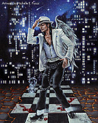 Michael Jackson Mixed Media Prints - Finding Forever Print by Michele Fusco