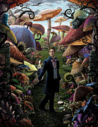 Photoshop Digital Art Posters - Finding Myself In Wonderland Poster by Christopher Ables