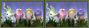 Crossview Framed Prints - Finding Nemo - Gently cross your eyes and focus on the middle image Framed Print by Brian Wallace