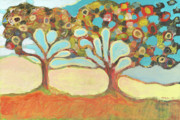Tree Abstract Posters - Finding Strength Together Poster by Jennifer Lommers