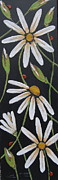 Daisies Reliefs Framed Prints - Finding Your Way Framed Print by Lori McPhee