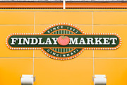Cincinnati Framed Prints - Findlay Market Sign in Cincinnati Ohio Framed Print by Paul Velgos