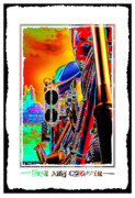 Color Poster Framed Prints - Fine Art Chopper I Framed Print by Mike McGlothlen