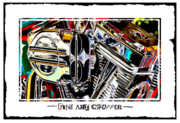 Colorful Digital Art - Fine Art Chopper II by Mike McGlothlen