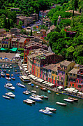 Portofino Italy Boats Framed Prints - Fine Port Framed Print by John Galbo