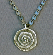 Sterling Silver Jewelry Originals - Fine silver Op-Art pendant by Mirinda Kossoff