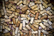 Red Photo Posters - Fine Wine Corks Poster by Frank Tschakert