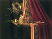 Still Life Prints - Finely Woven Print by Barbara Groff