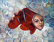 Fish Paintings - Finessa by Patrick Anthony Pierson