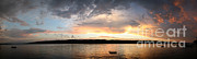 Finger Lakes Art - Finger Lakes At Sunset by Ted Kinsman