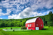 Barn Print Framed Prints - Finger Lakes Barn III Framed Print by Steven Ainsworth