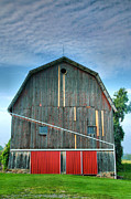 Framed Photograph Metal Prints - Finger Lakes Barn IV Metal Print by Steven Ainsworth
