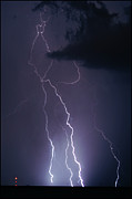 Lightning Bolts Digital Art Posters - Fingers of God  Poster by Lg Booth