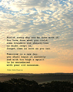 Inspirational Quotes Photos - Finish Every Day by Marianne Beukema