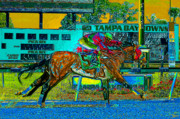Horse Racing Art Prints - Finish Line Print by David Lee Thompson