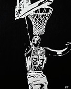 Michael Jordan Painting Framed Prints - Finisher Framed Print by Matthew Formeller