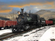 Colorado Railroad Museum Prints - Finishing UP Print by Ken Smith