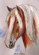 Horse Drawings Framed Prints - Finnish Horse Framed Print by Tarja Stegars