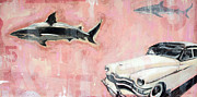 Sharks Mixed Media Prints - Fins No Fins Print by Steve Casper