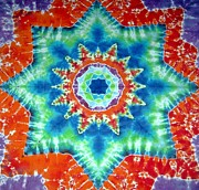 Tie Dye Tapestries - Textiles Metal Prints - Fire And Ice Metal Print by Jason Shirek