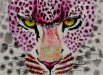 Leopard Painting Prints - Fire and Ice Print by Maria Barry
