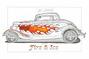 Custom Ford Metal Prints - Fire and Ice Metal Print by Michael Gass