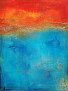 Homage Mixed Media Posters - Fire and Water Abstract Poster by Anahi DeCanio