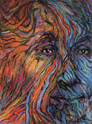 Portraiture Pastels Prints - Fire and Water Print by Alyssa  Hinton