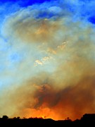 Sky Fire Prints - Fire Approaches Print by Randall Weidner