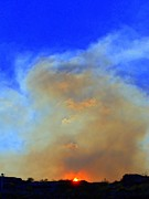 Sky Fire Prints - Fire At Sunset Print by Randall Weidner