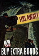 Navy Digital Art Posters - Fire Away Poster by War Is Hell Store