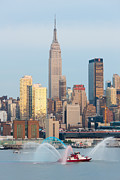 Fire Boat And Manhattan Skyline IIi  Print by Clarence Holmes