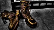 Fireplace Photos - Fire Boots by Drew Castelhano