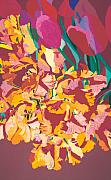 Interior Design Painting Posters - Fire Bouquet Poster by Allan P Friedlander