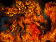 Fantasy Art Giclee Posters - Fire Dancer Poster by Carol Cavalaris