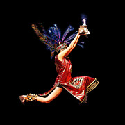 Dancer Art Photo Posters - Fire Dancer Poster by Cindy Singleton
