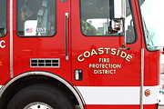 Fire Fighters Prints - Fire Engine . Coastside Fire Protection District 7d15094 Print by Wingsdomain Art and Photography