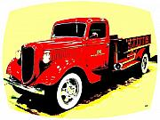 Ok Framed Prints - Fire Engine OK Framed Print by Will Borden