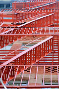 Fire Escape Metal Prints - Fire Escape Metal Print by Copyright Eric Reichbaum