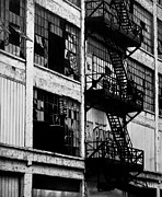 Detroit Drawings Framed Prints - Fire Escape Framed Print by Cynthia Garcia