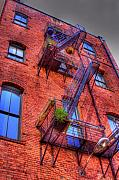 Digital Art - Fire Escape by David Patterson