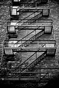 Downtown Stairs Metal Prints - Fire Escape Metal Print by Odd Jeppesen