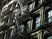 Franklin Metal Prints - Fire Escape on Franklin Street 2 Metal Print by Sarah Loft