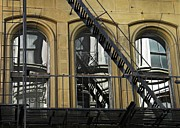 Franklin Metal Prints - Fire Escape on Franklin Street Metal Print by Sarah Loft